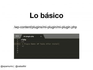 WPAmurrio - Taller_ Como crear un plugin para WordPress